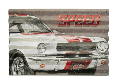 Speed Corrugated Metal Sign 24 x 16 Inches