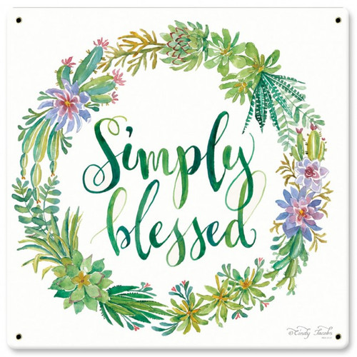 Simply Blessed Sign 12 x 12 Inches