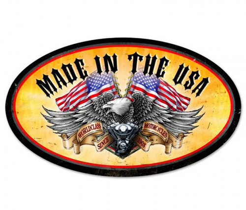 World Class Eagle Metal Sign 24 x 14 Inches
