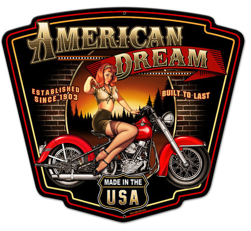 American Dream Metal Sign 24 x 21 Inches