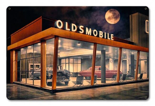 The Future Is Oldsmobile Metal Sign 18 x 12 Inches