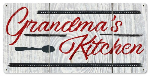 Grandma's Kitchen Metal Sign 24 x 12 Inches