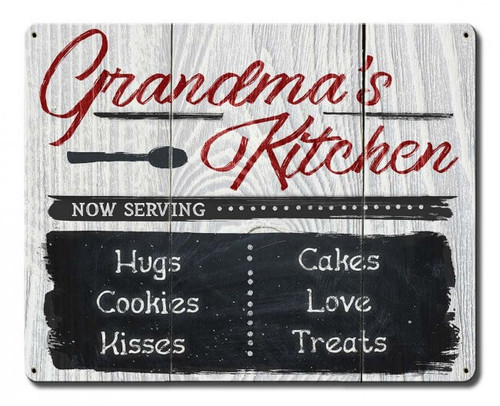 Grandma's Kitchen Metal Sign 15 x 12 Inches