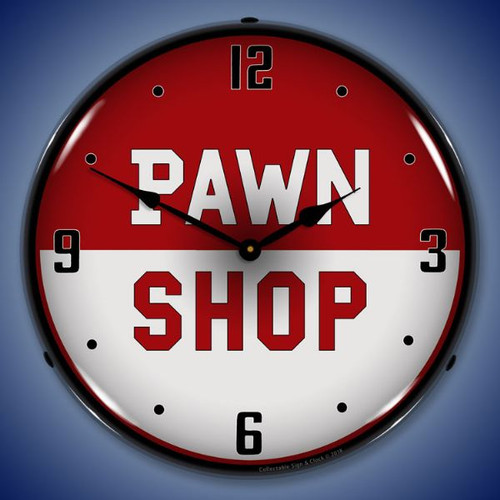 Pawn Shop Lighted Wall Clock 14 x 14 Inches
