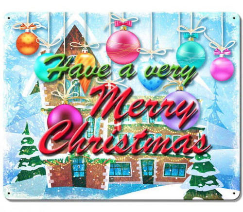 Have A Merry Christmas Metal Sign 15 x 12 Inches