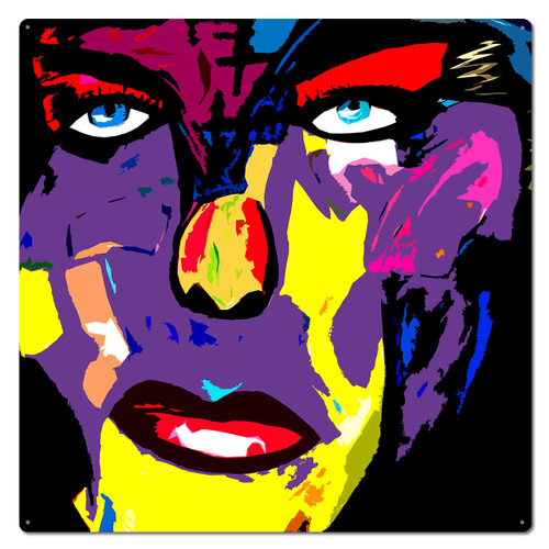 Pop Art Face Metal Sign 28 x 28 Inches
