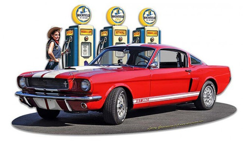 1966 Mustang GT 350 Fill-up WG  Metal Sign 18 x 11 Inches