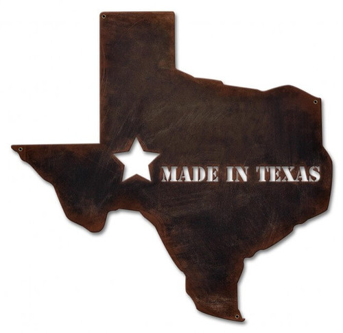 Made In Texas Metal Sign 19 x 19 Inches
