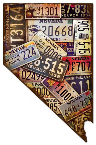 Nevada License Plates Metal Sign 24 x 37 Inches