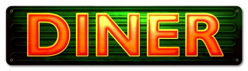 Diner Metal Sign 20 x 5 Inches