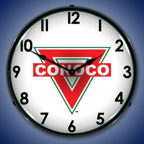 Conoco LED Lighted Wall Clock 14 x 14 Inches