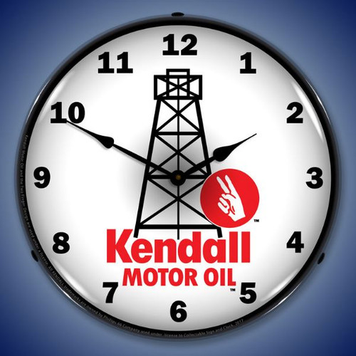 Kendall Motor Oil LED-Lighted Wall Clock 14 x 14 Inches
