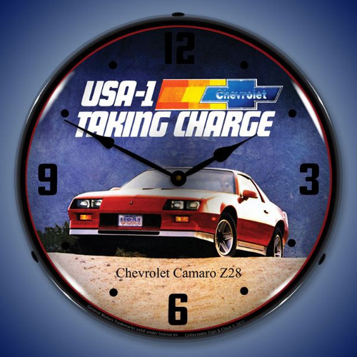 1983 Camaro Z28 LED-Lighted Wall Clock 14 x 14 Inches
