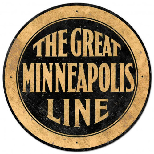 The Great Minneapolis Line Metal Sign 28 x 28 inches