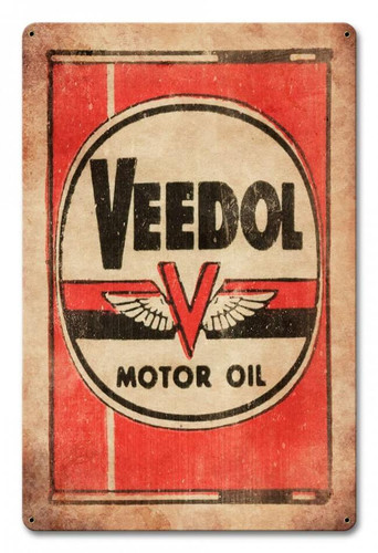 Veedol Motor Oil Metal Sign 12 x 18 Inches