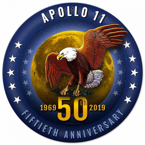 Apollo 11 50th Anniversary Starfield Metal Sign 14 x 14 inches