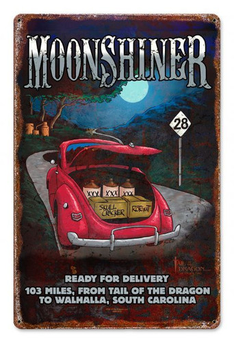 Moonshiner Metal Sign 12 x 18 Inches