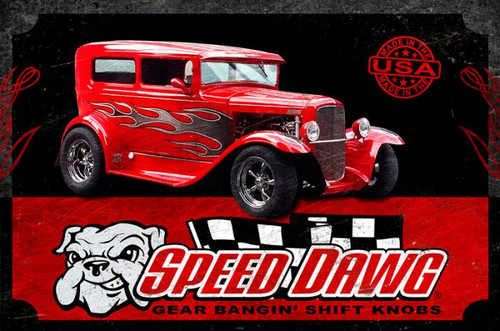 Speed Dawg Hot Rod Metal Sign 18 x 12 Inches