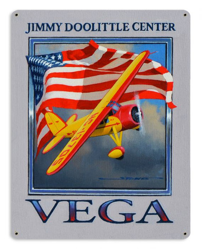 Doolittle Center Vega Metal Sign 15 x 12 Inches