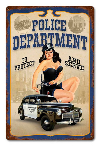 San Diego Police Department Metal Sign 12 x 18 Inches