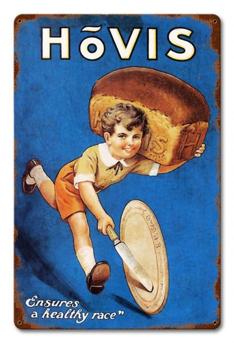 Hovis Metal Sign 12 x 18 Inches