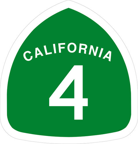 California Highway 4 metal sign