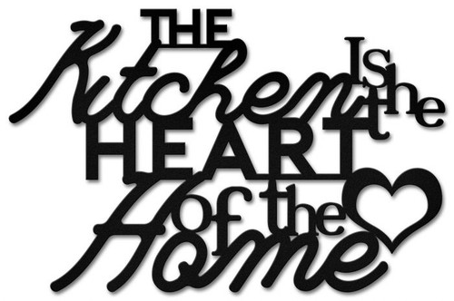 Kitchen Heart of The Home Metal Sign 25 x 16 Inches