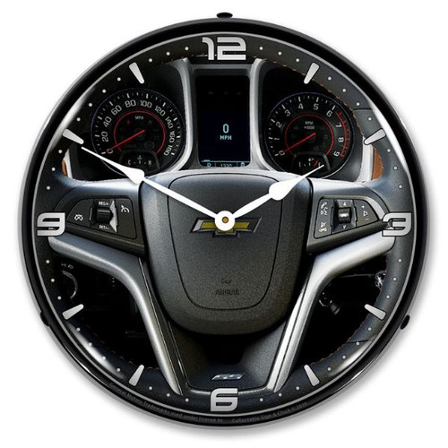 2013 Camaro Dash LED Lighted Wall Clock 14 x 14 Inches