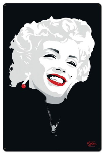 Miki Marilyn Monroe Metal Sign 24 x 36 Inches