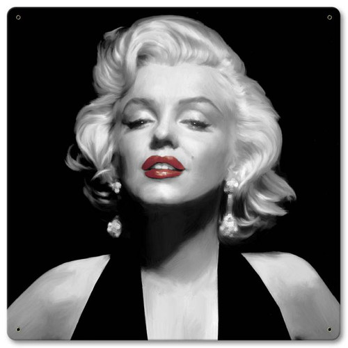 Halter Top Marilyn Monroe Metal Sign 12 x 12 Inches
