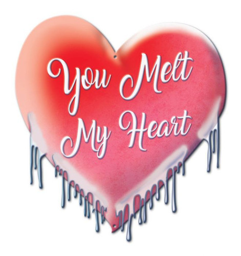 You Melt My Heart Metal Sign 15 x 16 Inches