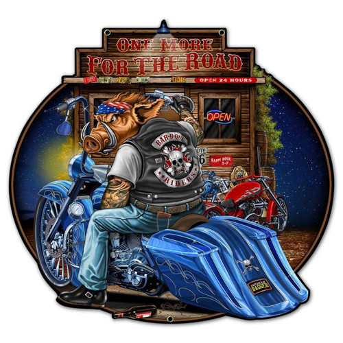 Bagger Metal Sign 24 x 23 Inches