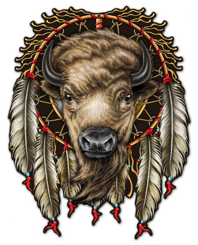 Buffalo Metal Sign 23 x 30 Inches