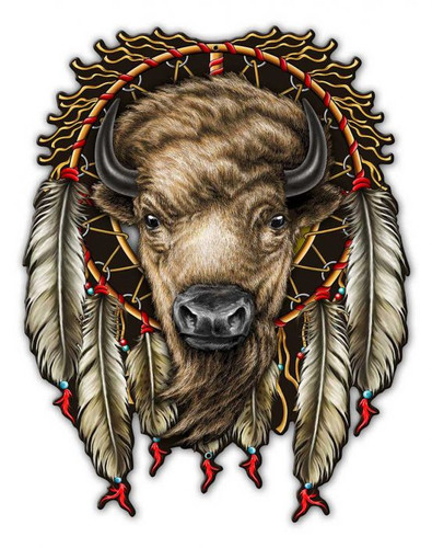 Buffalo Metal Sign 14 x 18 Inches