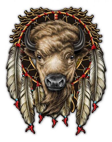 Buffalo Metal Sign 14 x 18 Inches