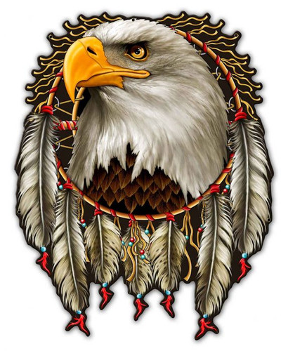 W Eagle Dream Metal Sign 29 x 37 Inches