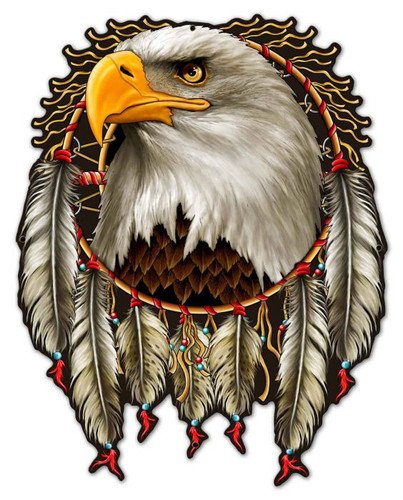 W Eagle Dream Metal Sign 23 x 30 Inches