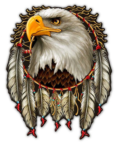 W Eagle Dream Metal Sign 14 x 18 Inches