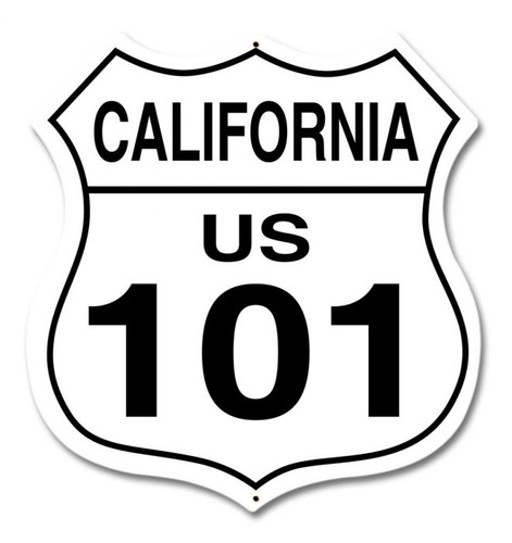 California Route 101 Metal Sign 15 x 15 Inches