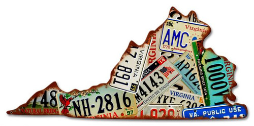 Virginia License Plates Metal Sign 23 x 11 Inches