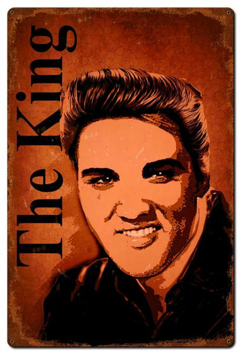 The King Metal Sign 24 x 36 Inches
