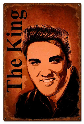 The King Metal Sign 16 x 24 Inches