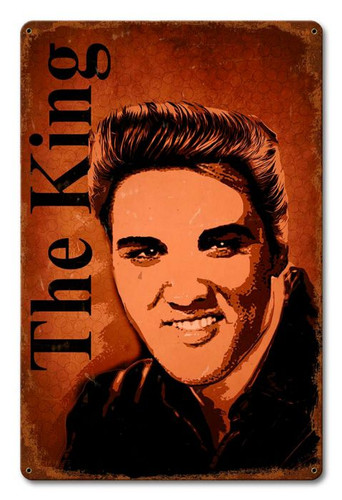 The King Metal Sign 12 x 18 Inches