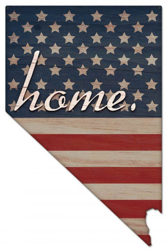 American Flag Home Nevada Metal Sign 24 x 37 Inches