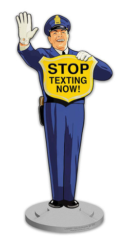 Guard Stop Texting Now Metal Sign 12 x 28 Inches