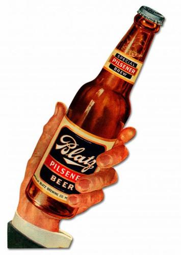 Blatz Beer Metal Sign 11 x 34 Inches