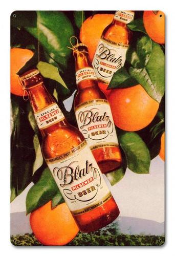 Blatz Beer Oranges Metal Sign 12 x 18 Inches