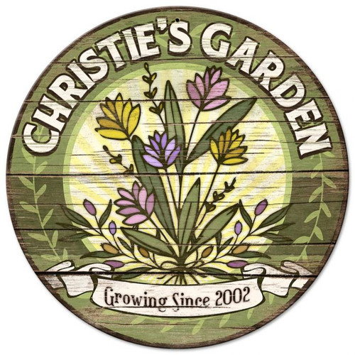 Garden Personalized Sign 14 x 14 Inches