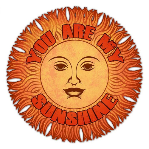 You Are My Sunshine Metal Sign 14 x 14 Inches