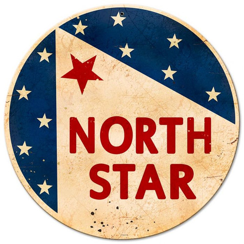North Star Gasoline Metal Sign 12 x 12 Inches